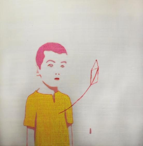 peinture d'enfant d'une série appelé l'intranquilité