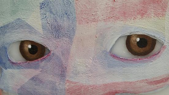 détail de la peinture America