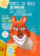 Affiche Salon du livre jeunesse de Bruges