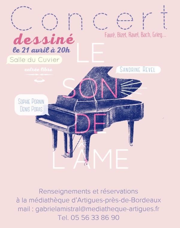 Concert dessiné le 21 avril à 20h Salle du Cuvier